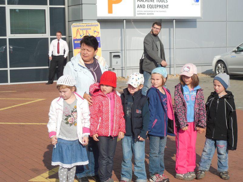 Děti z MŠ Kuřim na veletrhu v Brně